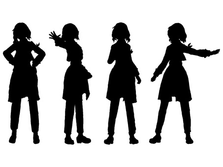 A cool sister silhouette