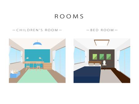 Perth style, room, illustration
