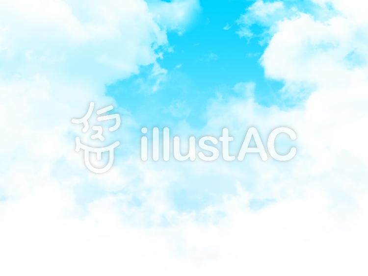 【フリーイラスト素材】雲と大空・4