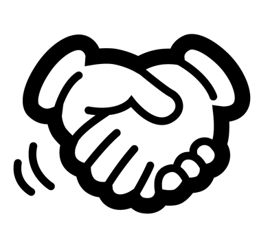 ac thick hand sign shaking hands