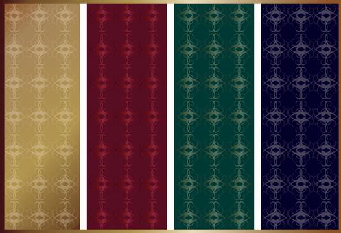 Rococo style wallpaper set