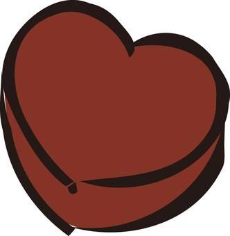 Heart love chocolate