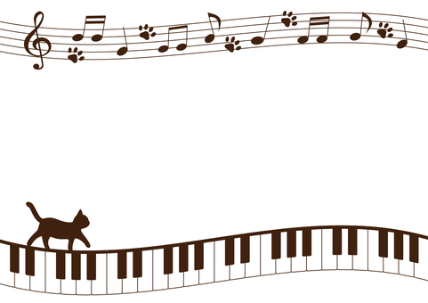 Keyboard and cat frame