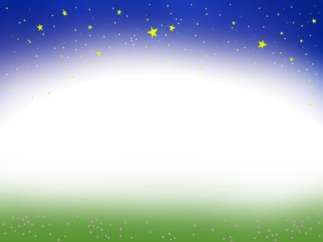 밤하늘과 초원