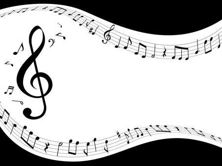 Music · Note illustration 09 · Flowing music
