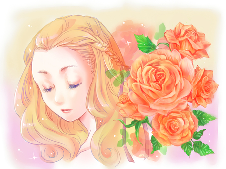 Rose and girl