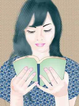 A woman reading 06