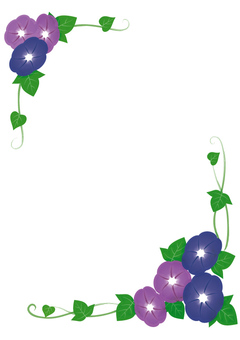 Two color morning glory frame (vertical)