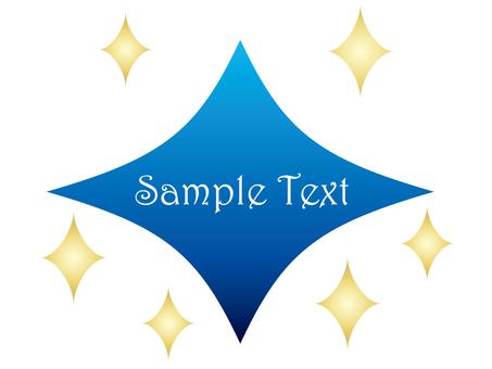 Diamond type title (blue)