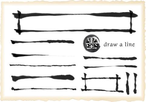 Black ink Japanese style line