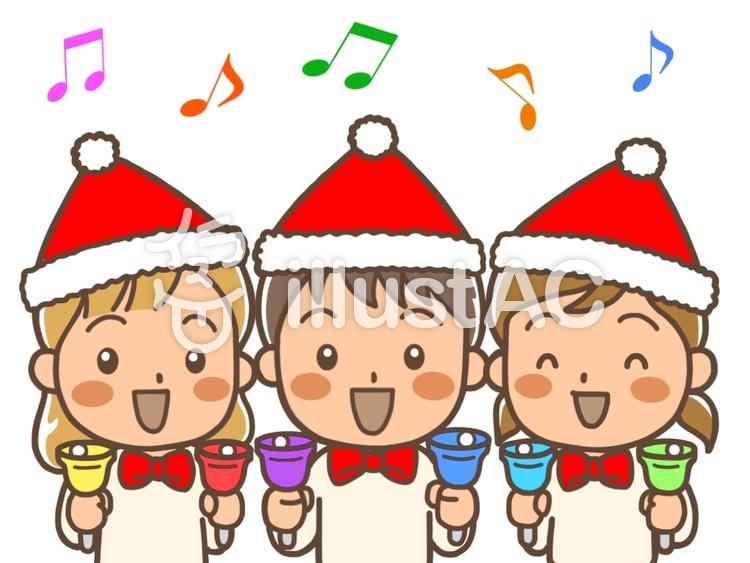 クリスマス会3人の子供達イラスト No 987055無料イラストなら