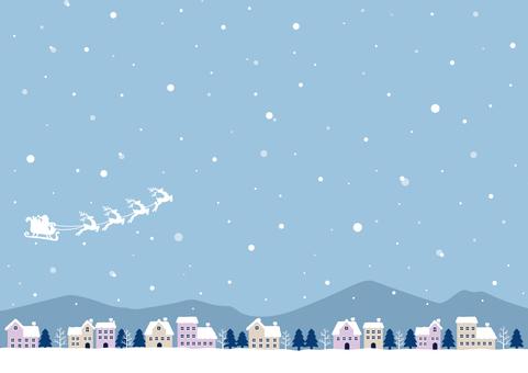 Santa and the snowy city 02