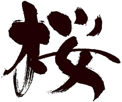 Sakura ~ SAKURA ~ brush character (calligraphy) Sakura