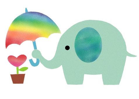 Bear with the elephant