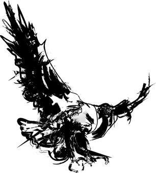 무료 일러스트 멋진 붓 기호 바람 독수리 독수리 독수리