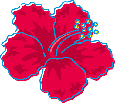 Summer image Hibiscus tropical