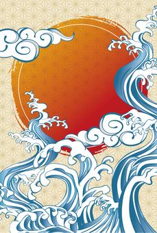 和柄の年賀状海