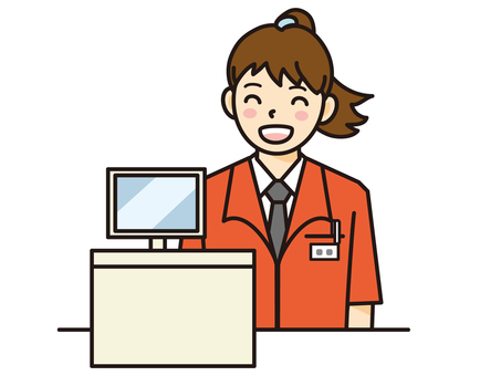 Cashier staff / female
