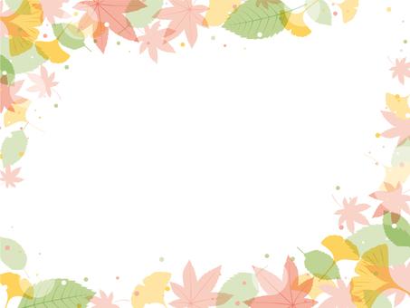 Easy frame of autumn