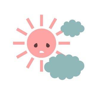 The sun and the rain cloud
