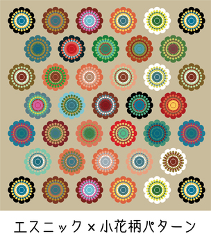 Ethnic x Flower Pattern Pattern