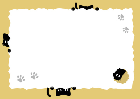 Hide-and-seek cat stationery