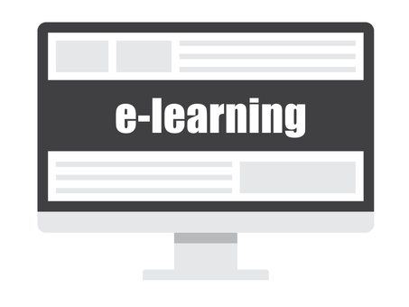 e-learning and PC monitor