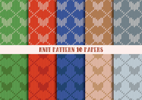 Knit Pattern Set (Heart 02)