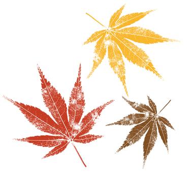 Red leaf print style
