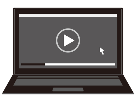 Laptop video playback screen
