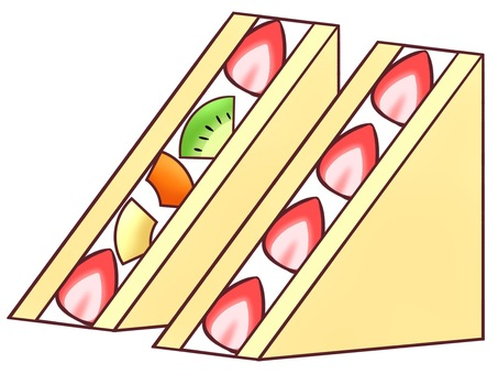 Strawberry sand, fruit sand
