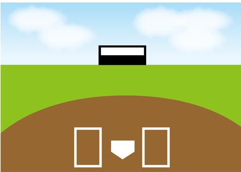 벽지, 야구장