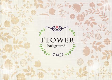 Background material / handwritten flower