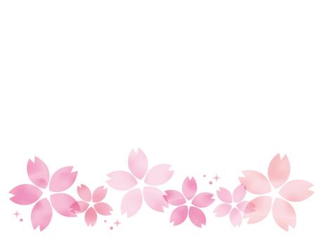 큰 벚꽃 라인