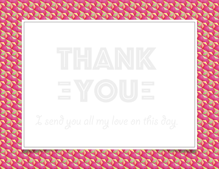 thank you card PINK