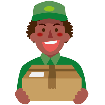 Deliverymen 1a from different countries