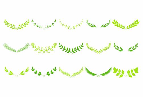 Leaf decoration 01