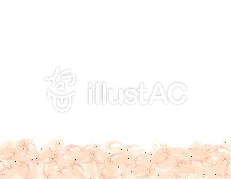 富士山と桜えび桜えびイラスト No 736810無料イラストなら