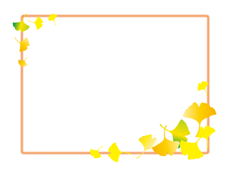 은행 나무 프레임 - 오렌지