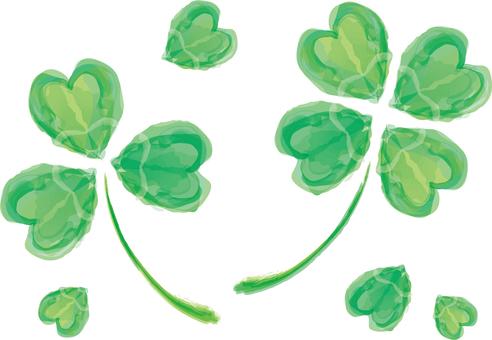 클로버 식물 자연 잎 녹색 녹색 네잎 줄기