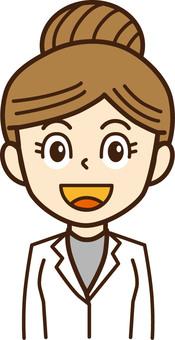 Doctor, female doctor, person illustration 12