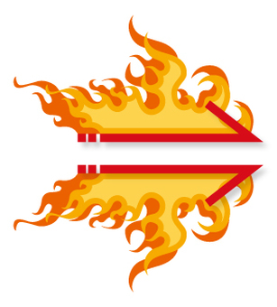 Flame pattern _ Arrow _ 1