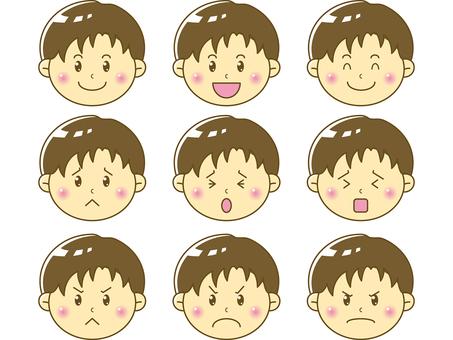 Child / boy face 04