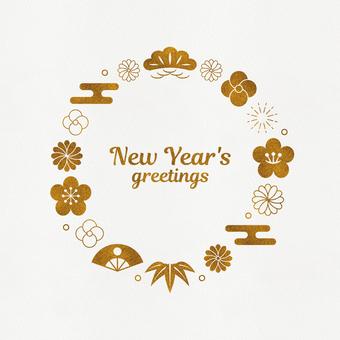 กรอบสไตล์ญี่ปุ่น 001 รอบปีใหม่