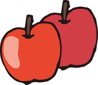 사과 (2 개)
