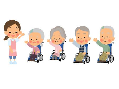 Elderly wheelchair set 2
