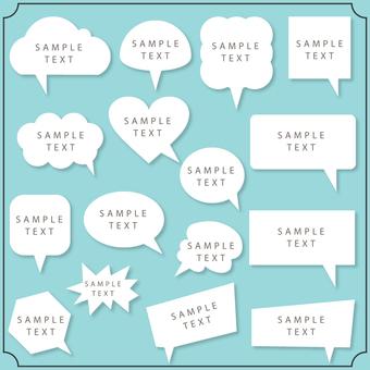 Simple speech bubble