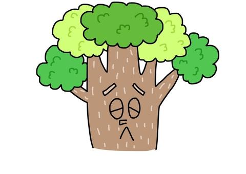 곤란한 얼굴의 나무