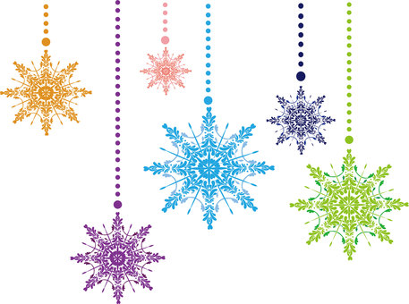 Snow Crystal Ornaments ①