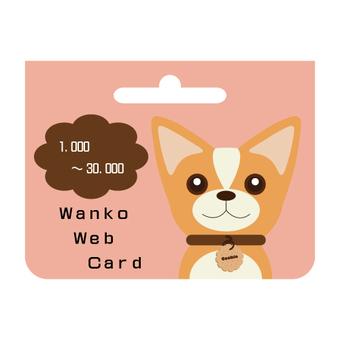 Web money card (prepaid card)